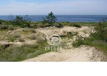 Sklypas ant jūros kranto