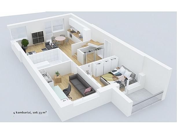 Šalia Ąžuolyno parko, statomas 24 butų namas 14