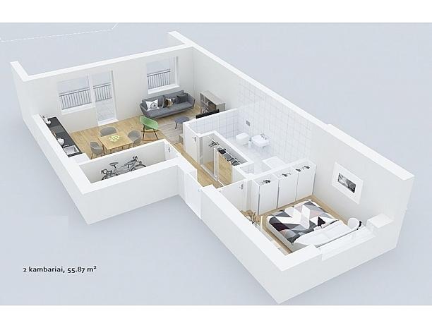 Šalia Ąžuolyno parko, statomas 24 butų namas 10