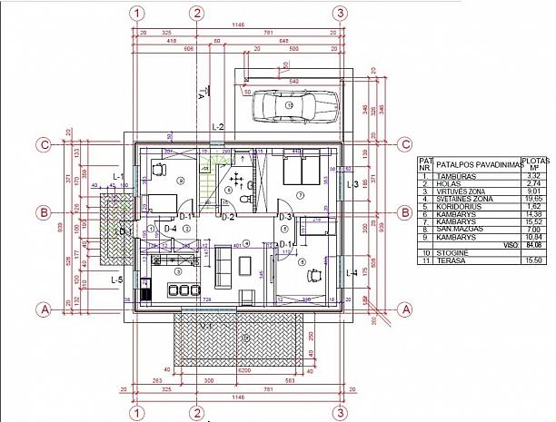 1 ar 2 aukštų namai Aleksote 4