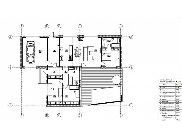 A klasės erdvus ir modernus namas Panemunėje 1