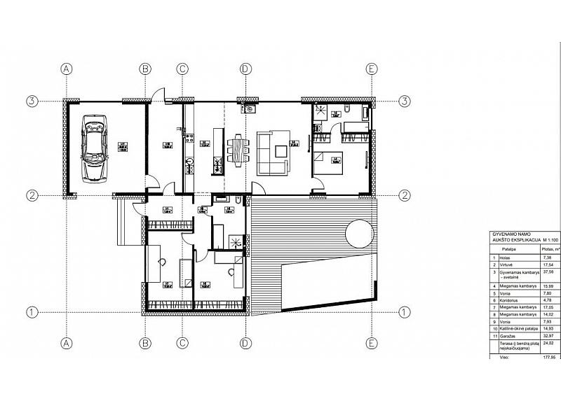 A klasės erdvus ir modernus namas Panemunėje