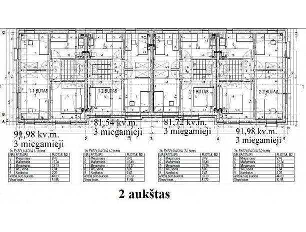 Įvairios kvadratūros kotedžai Ringauduose 6