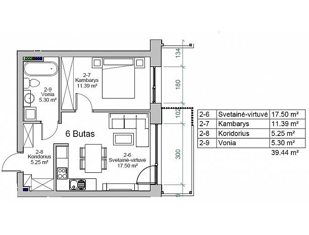 Įvairios kvadratūros butai Užliedžiuose 6