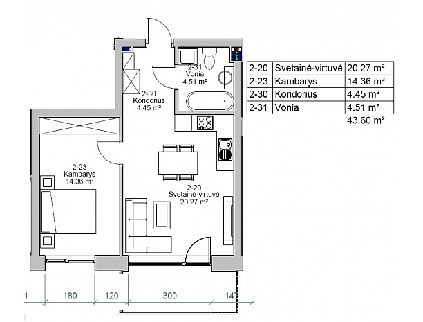 Įvairios kvadratūros butai Užliedžiuose 8
