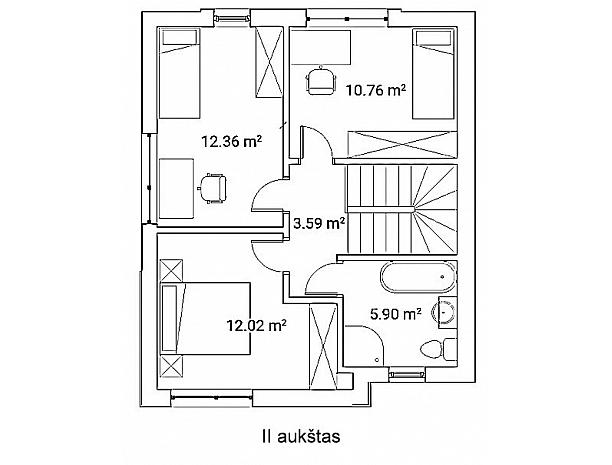 Dviejų aukštų dvibučiai namai VYNUOGYNO NAMUOSE 6