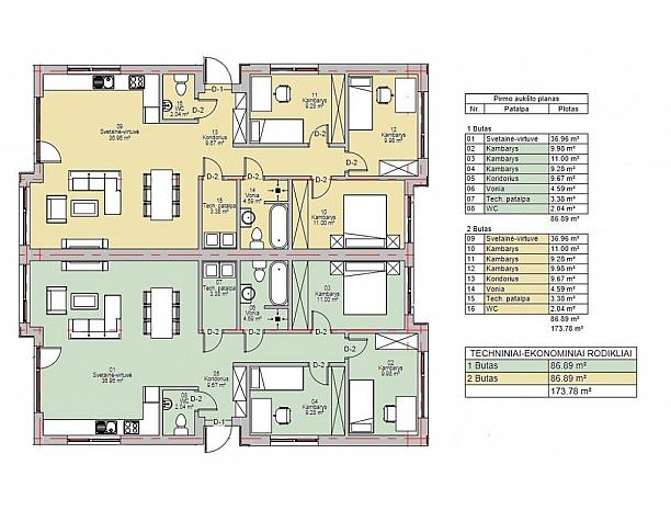 Vieno ir dviejų aukštų dvibučiai namai VYNUOGYNO NAMUOSE 9
